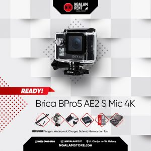 Sewa Action Camera Brica BPro5 AE2 S Mic 4K di NGALAMSTORE