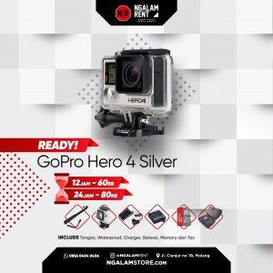 Sewa Action Camera GoPro Hero 4 Silver di NGALAMSTORE