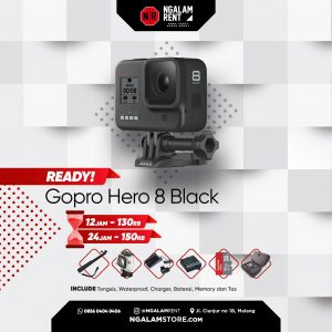 Sewa Action Camera GoPro Hero 8 Black di NGALAMSTORE