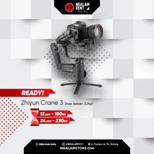 Sewa Stabilizer Kamera Zhiyun Crane 3 di NGALAMSTORE