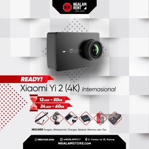 Sewa Action Camera Xiaomi Yi 2 (4K) Internasional di NGALAMSTORE