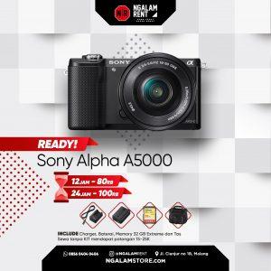 Sewa Kamera Mirrorless Sony Alpha A5000 di Malang