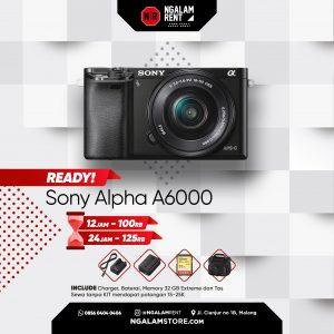 Sewa Kamera Mirrorless Sony Alpha A6000 di Malang