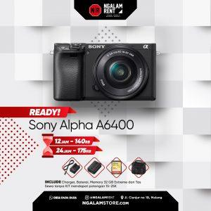 Sewa Kamera Mirrorless Sony Alpha A6400 di Malang • NGALAMSTORE