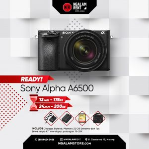 Sewa Kamera Mirrorless Sony Alpha A6500 di Malang • NGALAMSTORE