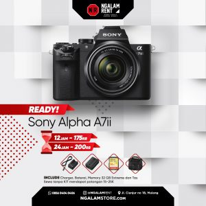 Sewa Kamera Mirrorless Sony A7 Mark II di Malang • NGALAMSTORE
